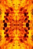 Abstrakt grafisk collage med detaljen av den brinnande brasan och journaler Fotografering för Bildbyråer