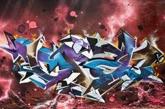 abstrakt grafitti Arkivbild