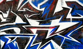 Abstrakt grafittibakgrund Royaltyfri Foto