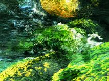 abstrakt green Arkivbilder