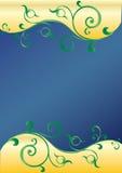 abstrakt greenswirls Arkivfoto