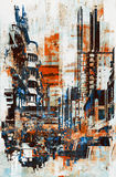 Abstrakt grunge av cityscape Arkivfoton