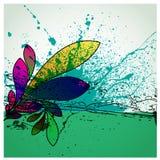 abstrakt grunge för bakgrundsdesignblomma Arkivfoto
