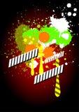 Abstrakt grunge plaskar färgvektorn Stock Illustrationer