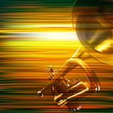Abstrakt grungebakgrund med trumpeten Royaltyfria Bilder