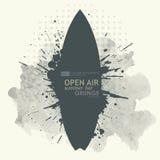 Abstrakt grungebakgrundsaffisch för openair parti Arkivfoto