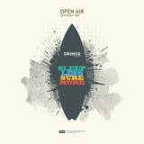 Abstrakt grungebakgrundsaffisch för openair parti Arkivfoton