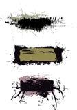 abstrakt grungeetiketter vektor illustrationer