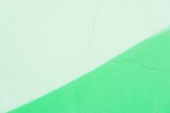 Abstrakt grungetexturbakgrund, olika skuggor av grön färg Detalj av den spruckna gamla murbrukväggen, fragment Royaltyfria Bilder