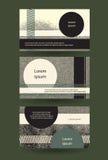 Abstrakt grungy horisontalorientering med kopia-utrymme Idérik mili royaltyfri illustrationer