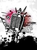 abstrakt grungy mic stock illustrationer