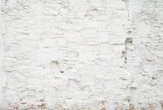 Abstrakt grungy tom bakgrund Foto av textur för vägg för vitmellanrumstegelstenar Tom cementyttersida horisontal Arkivfoton