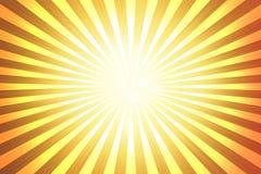 Abstrakt gul bakgrund, apelsinen, sol rays Royaltyfri Bild