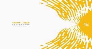 Abstrakt gul bandlinje bakgrund för vektor för design för garnering för modelldetaljkonstverk Illustrationvektor eps10 royaltyfri illustrationer