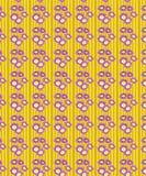 Abstrakt gul blom- sömlös modell stock illustrationer