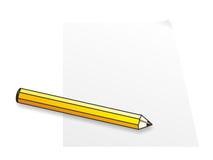 Abstrakt gul blyertspenna Royaltyfria Bilder