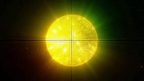 Abstrakt gul guld- diskoboll vektor illustrationer
