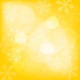 Abstrakt gul julbakgrund royaltyfri illustrationer
