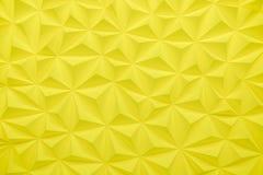 Abstrakt gul låg poly bakgrund med kopieringsutrymme 3d framför Royaltyfri Fotografi