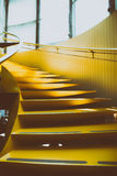 Abstrakt gul trappa Royaltyfria Bilder