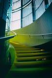 Abstrakt gul trappa Arkivfoton