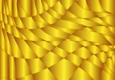 Abstrakt guld- bakgrund för vågvektor Royaltyfria Bilder