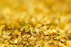 Abstrakt guld- bakgrund med mångfärgat blänker modell Bakgrund Royaltyfri Foto