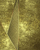Abstrakt guld- bakgrund med mellanlägg Beståndsdel för design Mall för design kopiera utrymme för annonsbroschyr eller meddelande Arkivbild