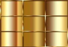 Abstrakt guld- bakgrundstextur Royaltyfria Bilder