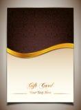 Abstrakt guld- band- och vektorbakgrund Royaltyfri Bild