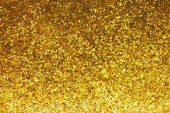 Abstrakt guld blänker bakgrund Royaltyfri Foto
