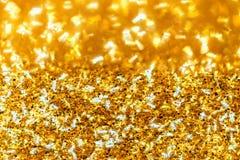 Abstrakt guld- blänker bakgrund Royaltyfri Fotografi