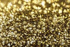 Abstrakt guld- blänker bakgrund Royaltyfri Foto