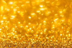 Abstrakt guld- blänker bakgrund Fotografering för Bildbyråer