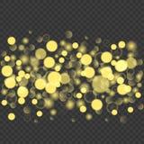 Abstrakt guld- blänker bakgrund Royaltyfria Bilder