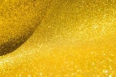 Abstrakt guld blänker bakgrund Fotografering för Bildbyråer