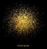 Abstrakt guld blänker bakgrund Guld- bakgrund för kort royaltyfri illustrationer