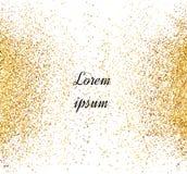 Abstrakt guld blänker bakgrund Ljust mousserar för kort vektor illustrationer