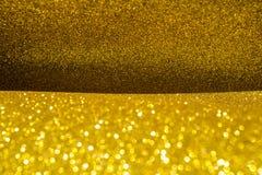 Abstrakt guld blänker texturbakgrund Arkivbilder