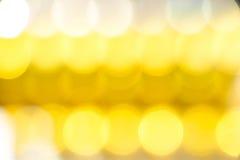 Abstrakt guld- bokehbakgrund, festligt tema Royaltyfri Foto