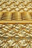 abstrakt guld- cirklar Arkivbilder