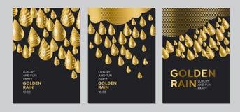 Abstrakt guld- droppmodell för yttersidadesign Arkivbild
