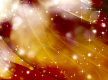 Abstrakt guld- festlig bakgrund Royaltyfria Bilder