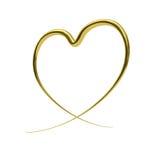 abstrakt guld- hjärta Arkivfoto