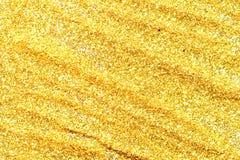 Abstrakt guld- ljus Bokeh bakgrundsguld Fotografering för Bildbyråer