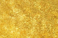 Abstrakt guld- ljus Bokeh bakgrundsguld Royaltyfri Fotografi