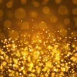 Abstrakt guld- ljus illustration för Bokeh bakgrundsvektor Royaltyfri Foto