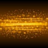 Abstrakt guld- ljus illustration för Bokeh bakgrundsvektor Royaltyfria Foton
