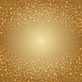 Abstrakt guld- ljus illustration för Bokeh bakgrundsvektor Arkivfoton