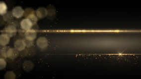 Abstrakt guld- ljus Intro, ram, bakgrund HD stock video